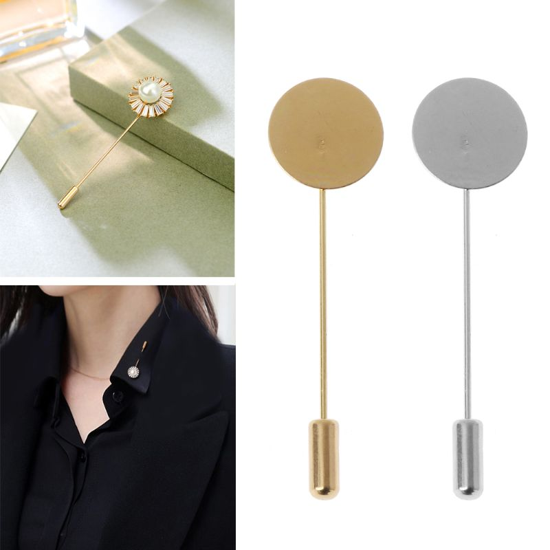 10Pcs Round Tray Lapel Stick Brooch Pin Suit Hat Scarf Badge DIY Costume Party Wedding Casual Decoration Gift Jewelry  Making
