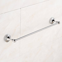 Beelee BA5101A Black Towel Bar Solid Brass Bathroom Accesseries 24 Inch Chrome Wall Mounted Towel Rack