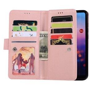 Image 3 - Huawei社P40 P30 プロP20 liteのケースフリップカバーグリッタージッパー財布電話ケースhuawei社メイト 30 20 lite 10 プロ磁気革ケース