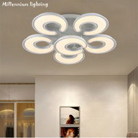 Modern Led Ceiling Lights For Living Room Bedroom Dining Room Dimmable Indoor Home Acrylic Light White