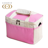 Coofit Unisex 8L Insulated Lunch Bags Casual Candy Color Waterproof Oxford Lunch Box For Girls Women