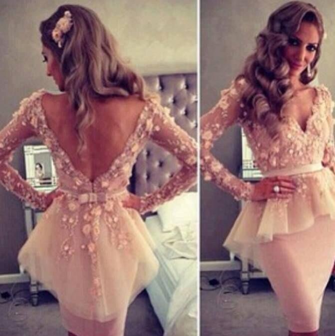 Vestidos De Festa 2018 New Fashion Real Sample Long Lace robe de soiree Knee Length Party gown New Fashion   bridesmaid     dresses