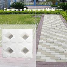 Pavement Mold Paving Concrete Brick-Mould Lawn-Maker Path Diy Garden Four-Hole