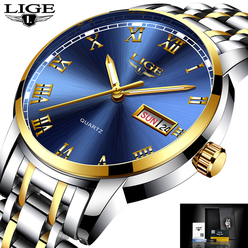 LIGE Mens Watches Top Brand Luxury Male Military Sport Luminous Watch men Business quartz-watch Male Clock Man Relogio Masculino skone skull sport watch men top brand luxury mens quartz watch skeleton silicone luminous watches relogio masculino hodinky xfcs page 3