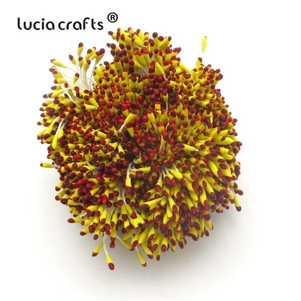 288 шт 60 мм разноцветные варианты наконечник пестик тычинка цветок тычинка украшения торта двойная головка тычинки D0501 - Цвет: color 5