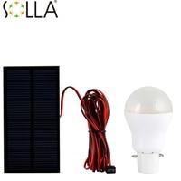 2PCS Lot Portable Solar Power LED Bulb Lamp Outdoor Tent Fishing Lamp Lighting Camping Lantern Lampada