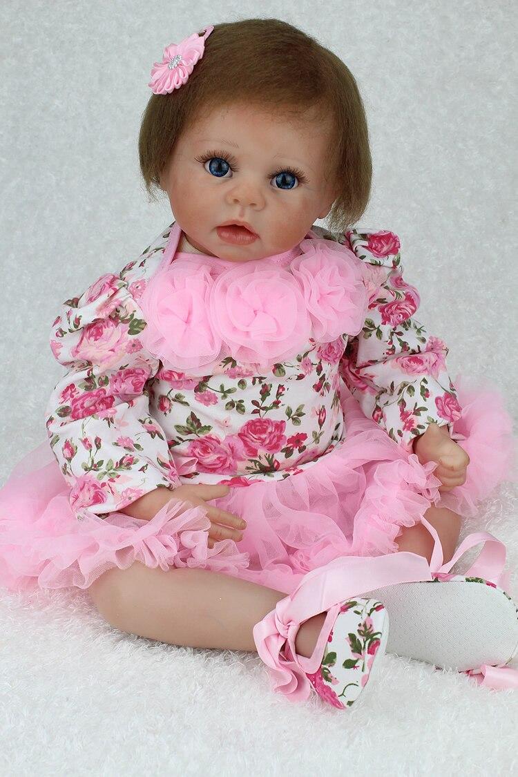 NPK Reborn Baby Doll Realistic Soft Silicone Reborn Babies Girl 22 Inch 55cm Adorable Kids Brinquedos Toy