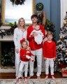 Navidad Pijamas A Juego de la Familia Padre Madre Hija Hijo Entre Padres E Hijos de la Familia Del Niño Del Cabrito Set Mujeres Hombres Familia A Juego Ropa SH8