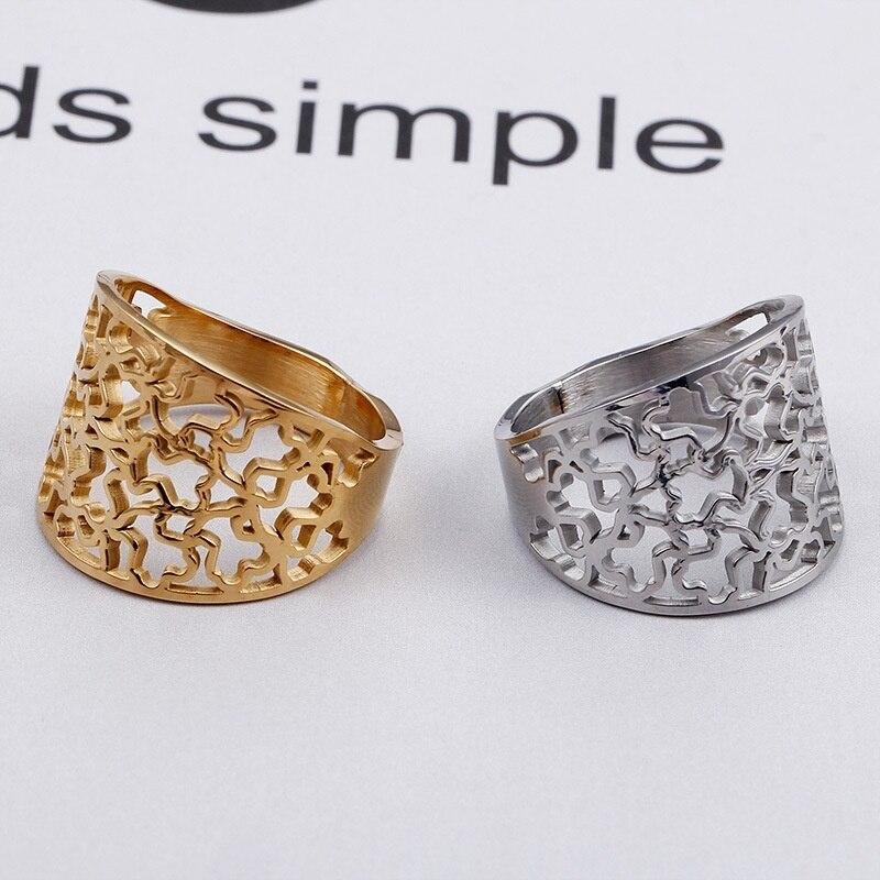 Titan stahl bär höhlte ring edelstahl bär ring neue produkt erste cub schmuck