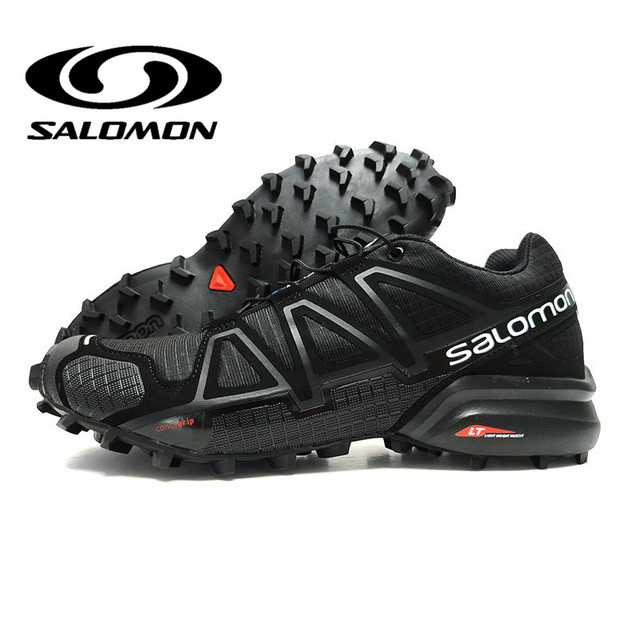 best service 6e259 069e1 Salomon Shoes Speed Cross 4 CS Outdoor Summer Sport Sneakers Men Black Camo  Red Male Athletics Jogging Shoes Fencing Shoes