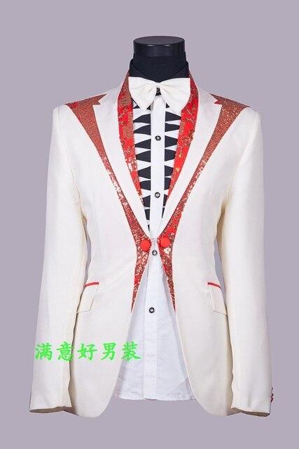 O novo vestido de casamento vestido de noiva terno dos homens do traje masculino traje dos homens terno cantora de estúdio MC para o cantor dancer boate estrela mostrar