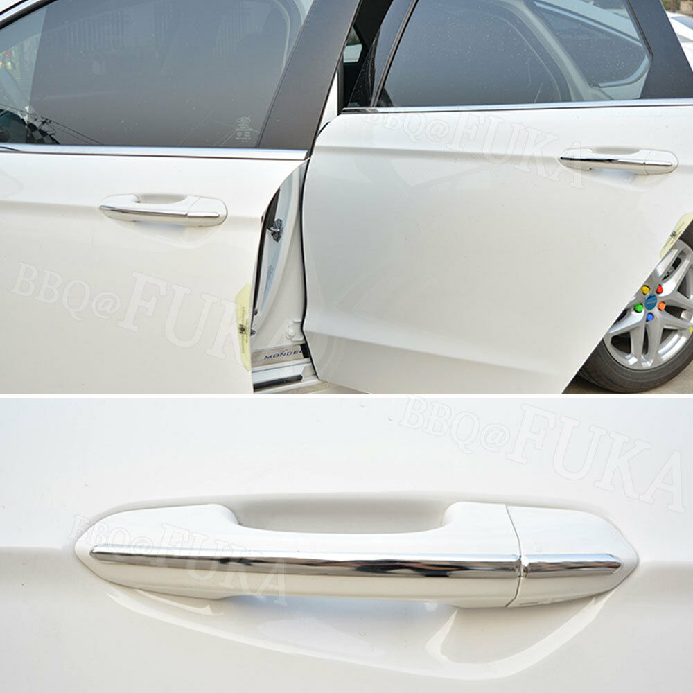8pcs//set Steel Door Handle Stripes Cover Trim Fit for Ford Fusion Mondeo 1.5T