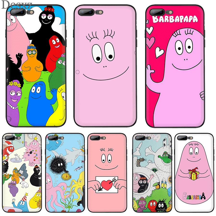 Mobile Phone Case Tpu For iPhone 7 8 6 6S Plus X XS Max XR Cute Cartoon Barbapapa Shell Casing