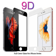 9D Full Coverage Cover Tempered Glass For iPhone 6 6s Plus Screen Protector Protective Film For iPhone 7 8 Plus X XS 5 5s 5c SE y sw2 protective matte screen protector guard film for iphone 5 5c 5s