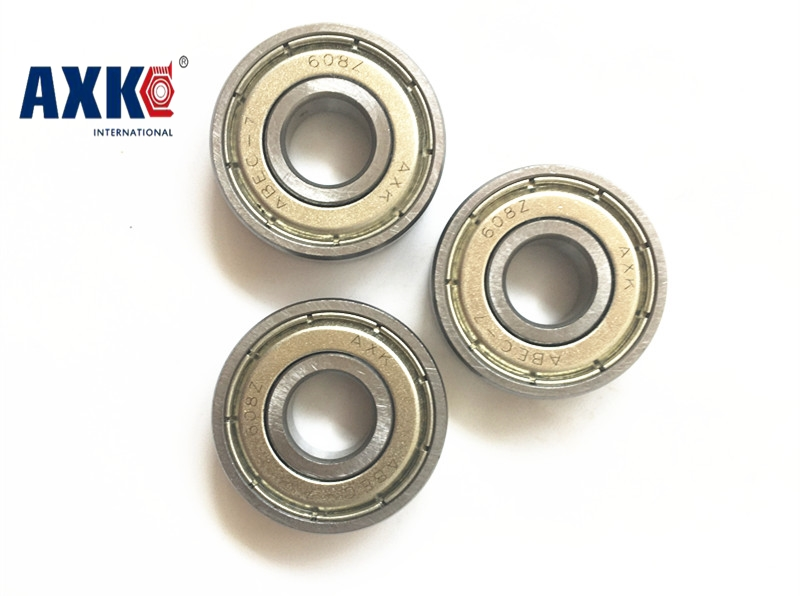 2017 10pcs Double Shielded Miniature High-carbon Steel Single Row 608zz Abec-7 Deep Groove Ball Bearing 8*22*7 8x22x7 Mm 608 Zz 10pcs double shielded miniature gcr15 steel single row 624zz abec 5 deep groove ball bearing 4 13 5 4x13x5 mm 624 zz 2z