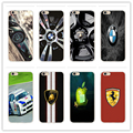 Fashion luxury car brand for BMW, ferrari transparent Hard Plastic Case Cover for Apple iPhone 4 4 s 5 5 s SE 5 6 7 Plus 6 s c
