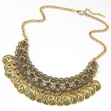 collier ethnique turkish Vintage Gypsy indian jewelry Necklace For Women Antique Trendy indien Ethnic