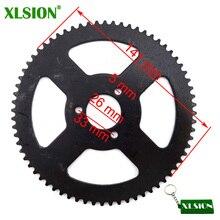 Задняя звездочка XLSION 25H 68 зубьев 26 мм для карманного мини-велосипеда 47cc 49cc, велосипеда-внедорожника, квадроцикла