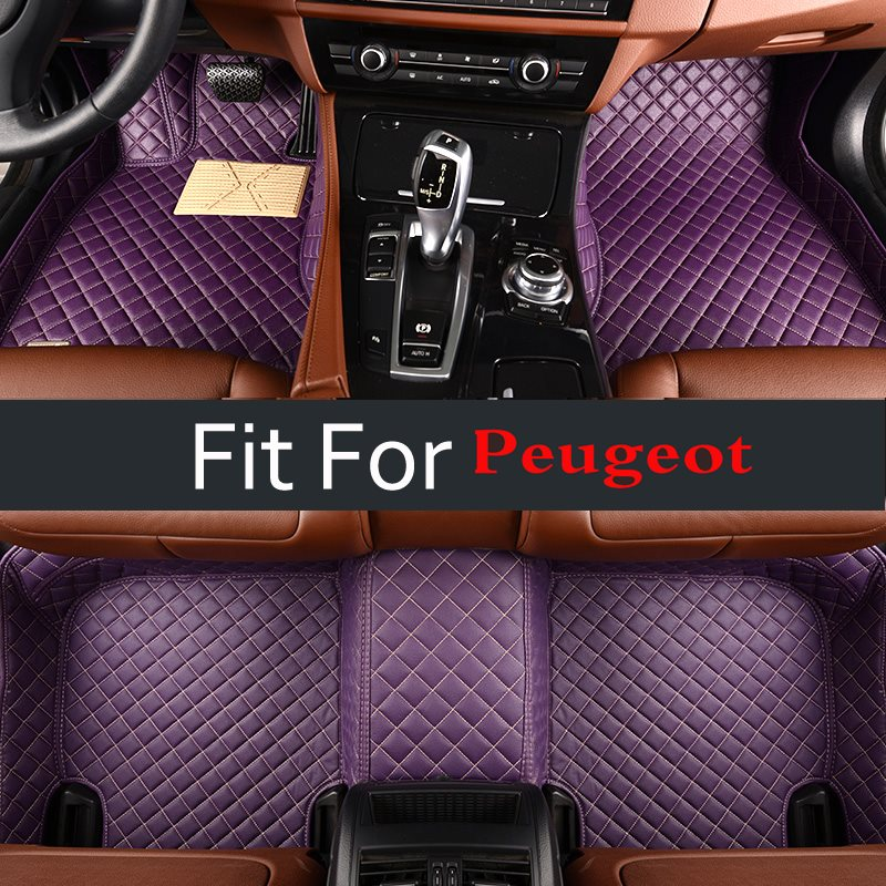 Red Car Floor Mat For Peugeot All Model 307 206 308 308s 407 207 406 408 301 508 2008 3008 4008 Interior Decoration Carpet led glove box light for peugeot 206 207 306 406 307 406 407 607 806 308 3008 auto led interior bulb 12v led glove box lamp