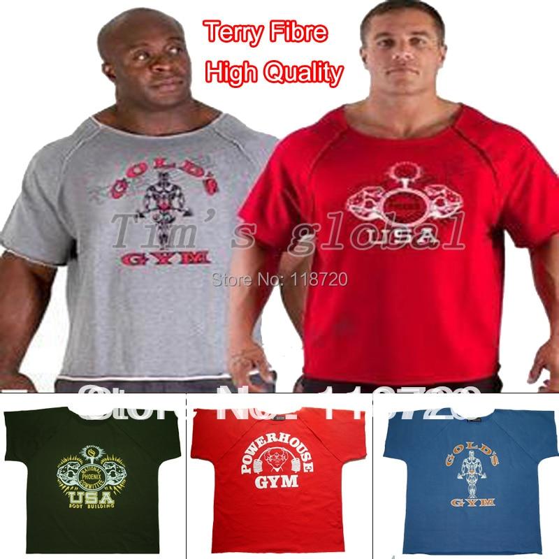 T101 men 39 s gym shirts gold npc power gym wear fitness for Free gym t shirts