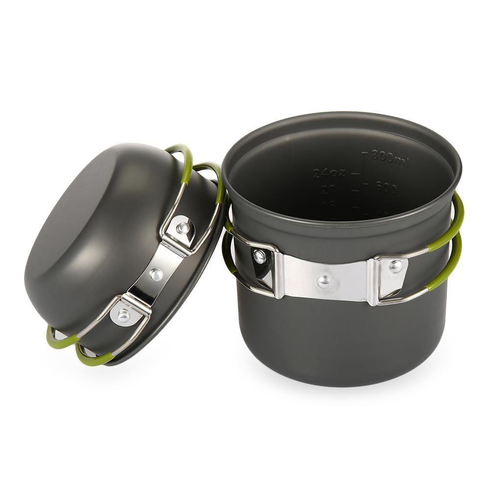 1L ανοιχτό δοχείο + πιάτο αλουμινίου - Κατασκήνωση και πεζοπορία - Φωτογραφία 1