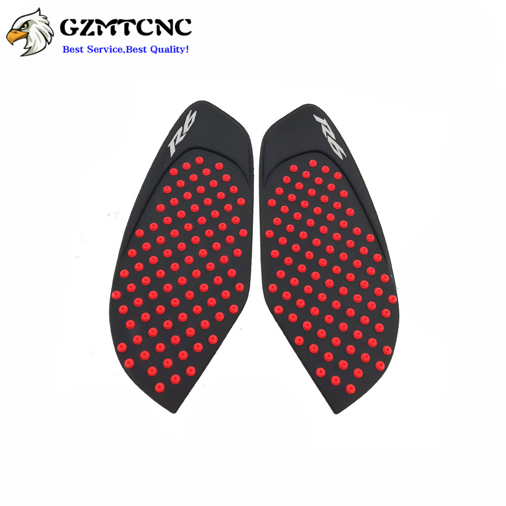 Tank Traction Gas Pad Knee Fuel Side Grips Decals For YAMAHA YZF R6 2008-2016