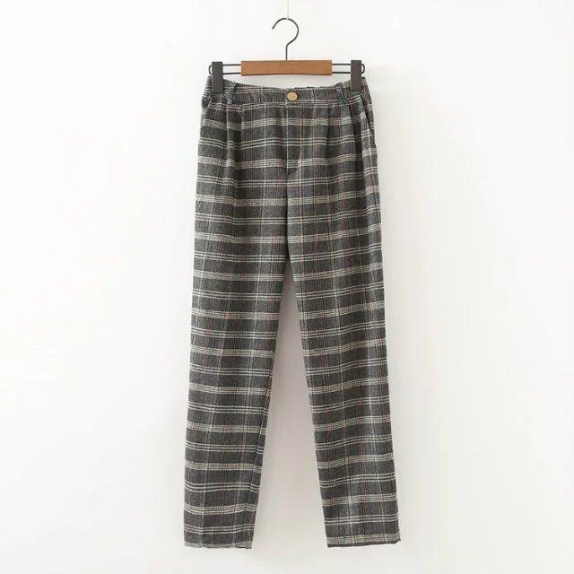 Popular Plaid Pants Women-Buy Cheap Plaid Pants Women lots from ...