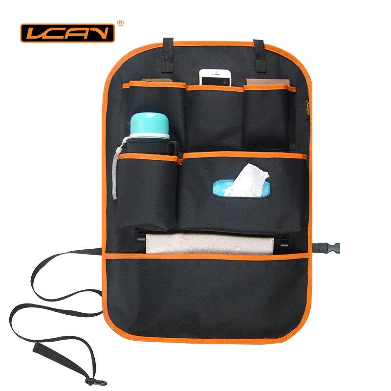 LCAV Car Seat Back Storage Organizer Cover Protector Hang Bag Bottle Facial Tissue Holder Oxford Waterproof
