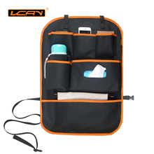 LCAV Car Seat Back Storage Organizer Cover Protector Hang Bag Bottle Facial Tissue Holder Oxford Waterproof Auto Stowing Tidying