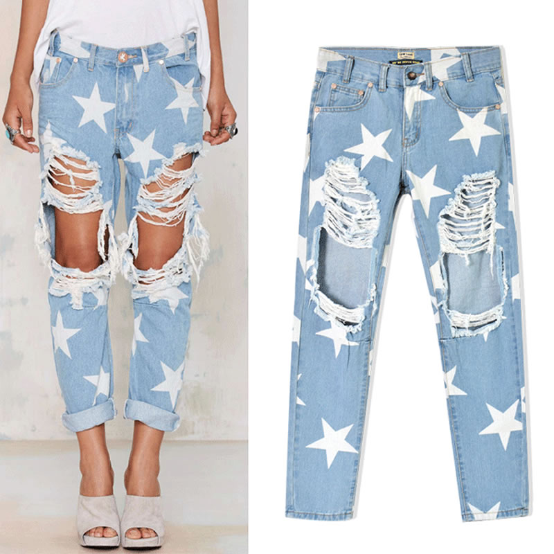 Aliexpress.com : Buy New High Waist Ripped Jeans for Women Hipster