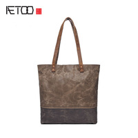 Creative Oil Wax Canvas Handbags Shoulder Messenger Bag Trend Retro Waterproof Packet Factory Direct