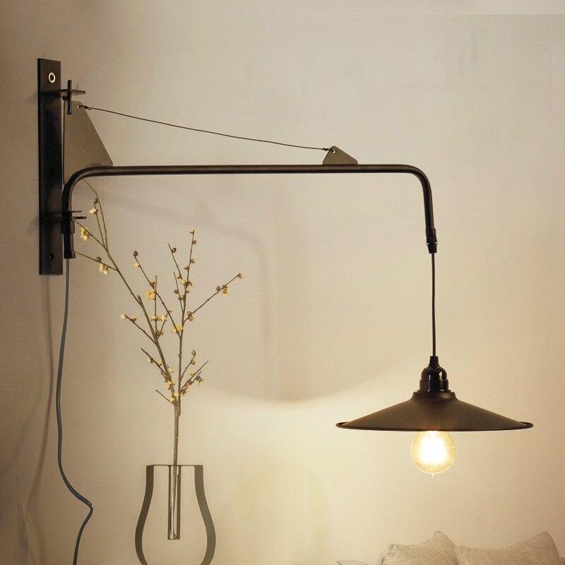 Lampes de mur LED modernes lampe de chevet Simple avec gradateur interrupteur Chrome flexibilité appliques liseuse éclairage intérieur