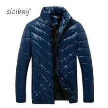2016 Новых Зимнее Пальто Мужские Ветровки Sicibay Марка Мода Повседневная Мужская Парки DJL6006