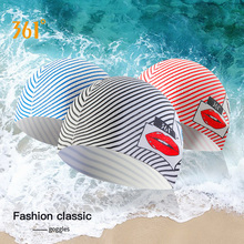 361 Silicone Printed Swimming Caps Unisex Adult Swim Cap Ear Protect Long Hair Waterproof for Men Women Pool Sport Swimming Hat 361 unisex swim caps waterproof silicone swimming cap professional pool swimming accessories ear protect adult children sports