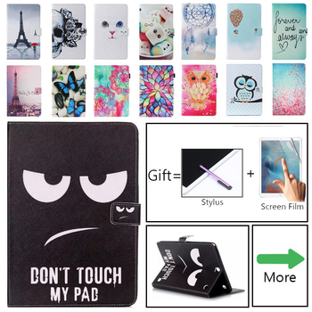 Case for Samsung Galaxy T550 T555 Skull Cat Card Pu leather Stand Cover Tab A 9.7 SM-T550 Capa - discount item  20% OFF Tablet Accessories