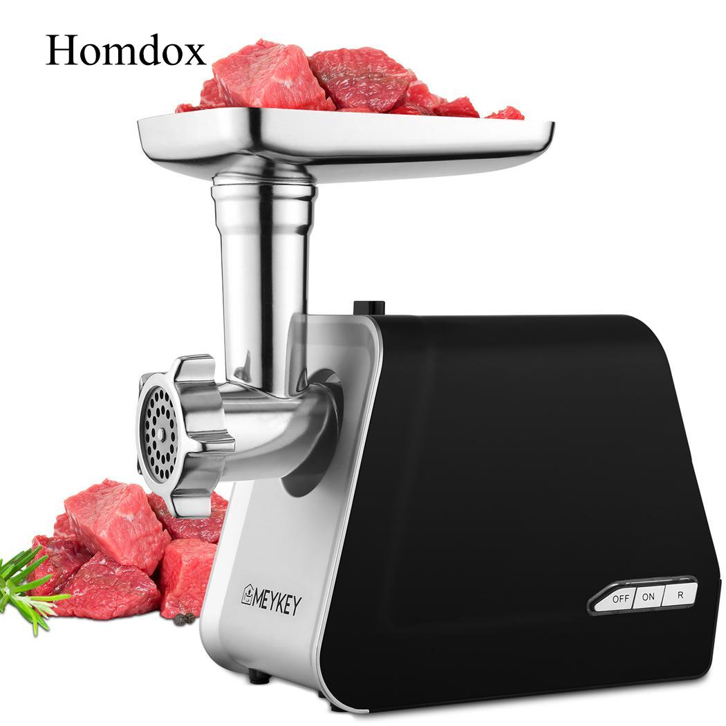 Homdox EU US Plug 500W Meat Grinder 500W Metal Electric Meat Grinder Rated Black Strong Safe Chicken Beef Food garcinia as preservative of chicken meat
