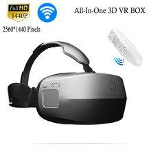 "All-in-one 3d vr googleกระดาษแข็ง5.7 ""จอแสดงผลvirutalความเป็นจริงหัวหน้าเมาหมวกกันน็อค2560*1440 pเกมวิดีโอwifiที่สมจริงแว่นตา"