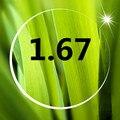 Super leve 1.67 lentes asféricas mais duro e resistência à radiação ultravioleta resistente membrana de resina óculos de miopia