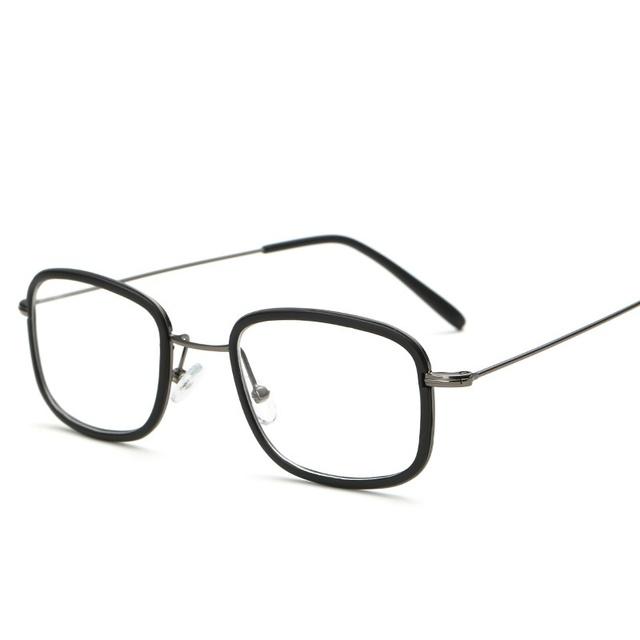 Nueva Tendencia de La Moda Cuadrado de la Aleación TR90 Gafas de Marco de Luz Acogedoras Hombres Mujeres Anteojos Equipo Óptico Gafas de Montura de gafas