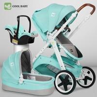 Прохладный baby 3 в 1 коляска Coolbaby Детские Двусторонняя подвеска Высокая Пейзаж коляска детская четыре колеса тележки