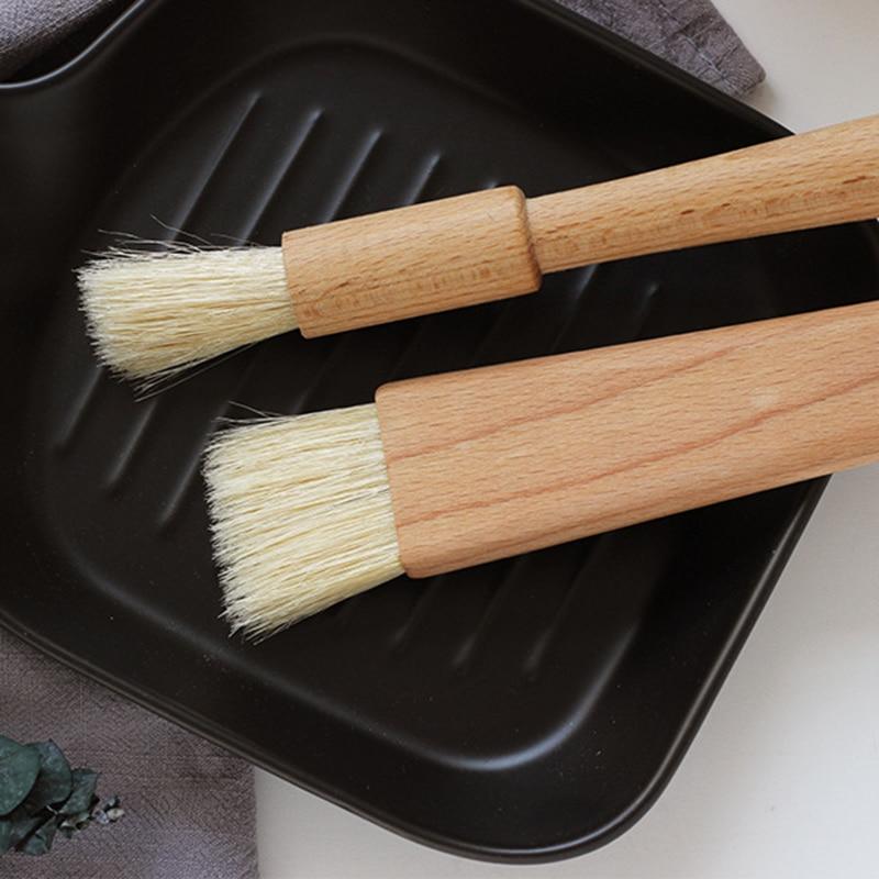 2019 Beech handle oil brush Kitchen Baking brush butter brush pastry brush barbecue egg brush cleaning brush