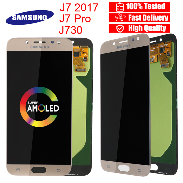 US $42 77 28% OFF|AMOLED Original Display For SAMSUNG Galaxy J7 Pro LCD  Display Touch Screen J730 J730F for SAMSUNG J7 Pro LCD Screen  Replacement-in