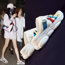 casual slippers women shoes Bear sandals female 2019 sports beach thick soled students leisure aike asia off white slides