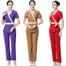 [SET] LOVESHADOW Women Clothes Mujer Clinicos Medical Uniforms Beautician Overalls Clothing  Beauty Salon
