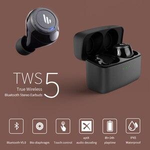 Image 2 - EDIFIER TWS5 Bluetooth V5.0 TWS kulakiçi aptX ses çözme IPX5 su geçirmez dokunmatik kontrol kadar 32hrs çalma süresi kablosuz kulaklık