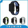 Últimas reloj de goma de silicona banda para iwatch apple watch 38mm 42mm Correa de Deportes con Adaptador de Pulsera Pulsera de La Correa Negro Azul blanco