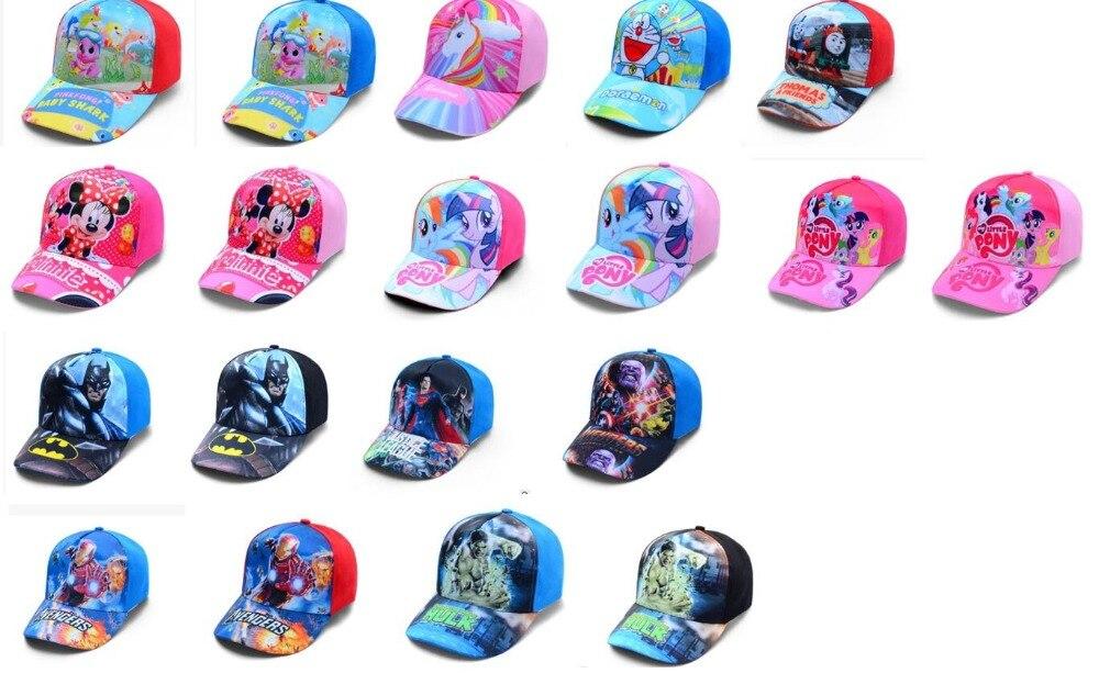 1pcs popular cartoon kids lovely avengers batman minnie hulk Fashion Sun Hat Casual Cosplay   Baseball     Cap   children party gifts