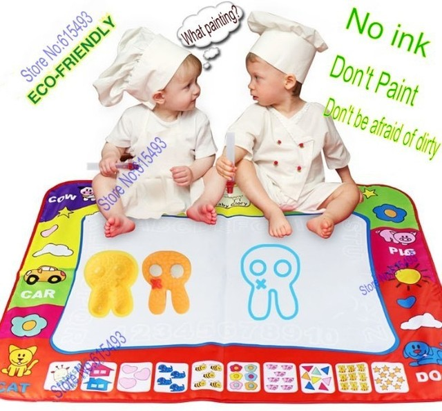 Free shipping 2013 new Animal Blanket water magic Drawing Toys Mat 60*80cm Child Drawing Magic pen board Quality Intelligence