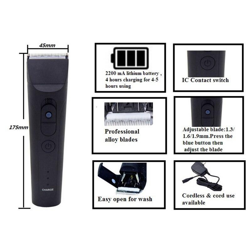 CHJ tondeuse tondeuse 7 niveaux étanche Rechargeable rasoir électrique 4 heures utilisation tondeuse à barbe Machine de découpe - 5