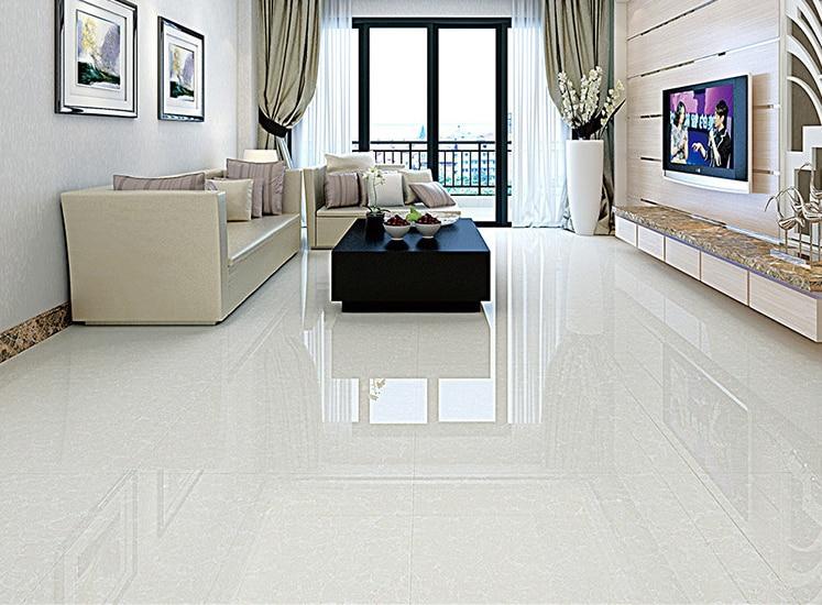 800X800mm Foshan ceramic tiles white polishing floor tiles living room bedroom floor tile brick